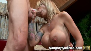 Sexy aunty Olivia giving hot blowjob and titsjob Preview Image