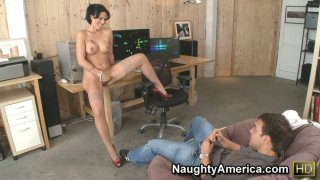 Super hot businesswoman Zoey Holloway gets_horny and stripteases Preview Image