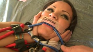 Sophia Lomeli's pussy producing light in BDSM games Preview Image