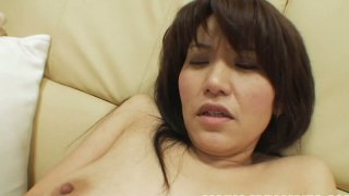 Plain chick Kanako Nishiura lets man play with her pussy Preview Image