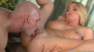Extremely hot fucking scene in bathroom with busty Krissy Lynn Preview Image