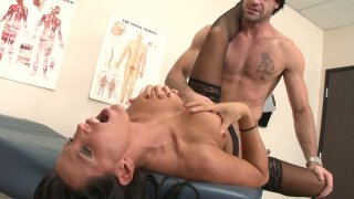 Filthy mature doctor Lezley Zen gets brutally fucked by her patient Preview Image
