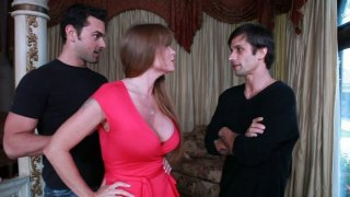Slutty cougar Darla Crane gets a double serving of young cocks Preview Image