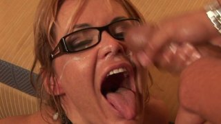 Ugly aunty Kelly Leigh gets poked_hard in a missionary position and later hammered doggy style Preview Image