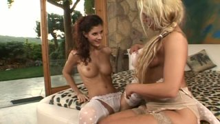 Sweet like candy Sarah James & Leanna Sweet lick each other's pussies Preview Image
