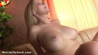 Too serious blondie Tarra White gets poked from behind Preview Image