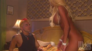 Sexcited blonde babe Donna Doll gets her asshole stuffed Preview Image