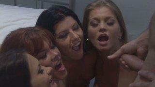 Ass pyramid by_Rebecca Love, Katja Kassin,Rita_Faltoyano,Taryn Thomas Preview Image