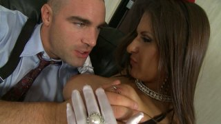 Playful whore Rachel RoXXX gives a blowjob and hot titjob to a hard long dick Preview Image