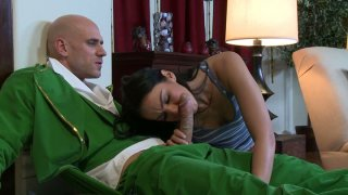 Charming brunette Tiffany Tyler_gives blowjob Preview Image