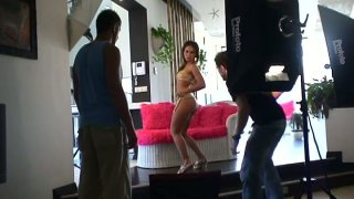 Watch the porn industry kitchen while filming Sandra in a threesome action Preview Image