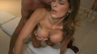 Delightful latina mommy Monique Fuentes rides cock and gets facial Preview Image