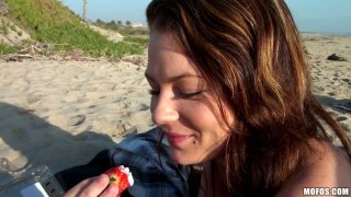 Too_whorish_and_voracious_brunette_Audrina_Ashley_teases_a_cock_on_the_beach Preview Image
