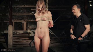 Wax torture and whipping for petite slave Preview Image