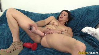 Mature Hottie Michele_Marks Stuffs_Her Holes with Toys till Orgasm Preview Image