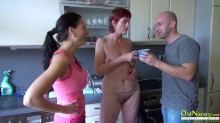 OldNannY Horny Grandma Threesome Hardcore Sex Preview Image