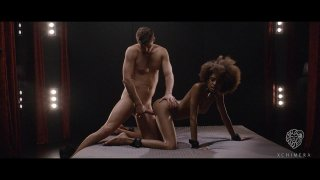 Skinny ebony enjoys riding her man and doggy style pounding Preview Image