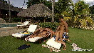 Outdoor_foursome_anal_fuck_with_Jennifer_Love_and_Kathy_Campbel Preview Image