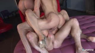 French slut has her holes filled in double penetration fuckfest Preview Image