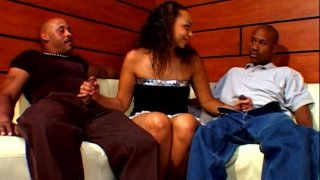 Phat ebony hoe Tinker Belle gets double teamed by couple of gangstas Preview Image