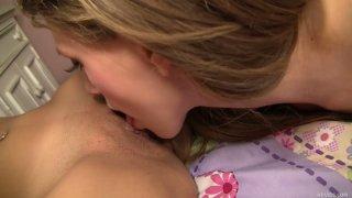 Curvy teens Megan Salinas and Delilah Blue make full contact Preview Image