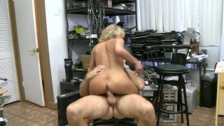Slutty blondie rides a strong and hot tool of the horny programmer Preview Image