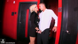 Rhylee Richards jerks dick and swallows it Preview Image
