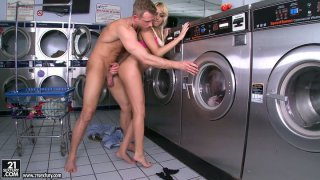 Breanne Benson getting her pussy licked and fucked in the laundry room Preview Image