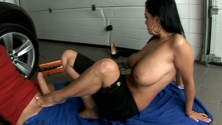 Foot worship scene with astonishing brunette MILF Jasmyne Black Preview Image