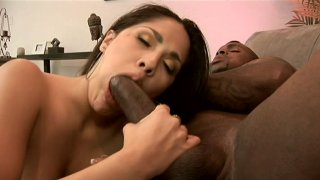 The cooch of Jade experiences a tough black cock penetration Preview Image