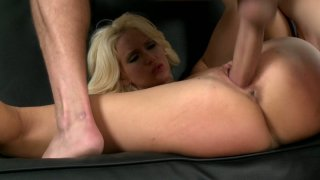 Flexible blonde lady Trixie fucks_missionary style_on the couch Preview Image