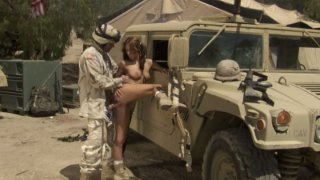 Bitch for soldiers Kirsten Price does her best Preview Image