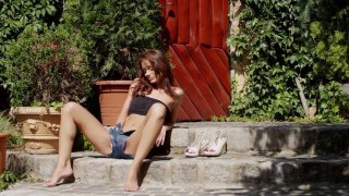 Skinny redhead_beauty passionately masturbates outdoors Preview Image