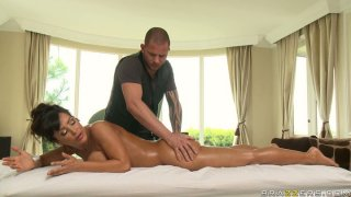 Perfectly shaped Lisa Ann gets her asshole fingered in a massage parlour Preview Image