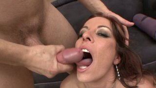 Buxom redhead mommy Kora Cummings fucks and gets facial Preview Image