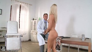 Gyno checkup went wrong with blonde seductress Erica Fontes Preview Image