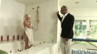 Massage turns into a solid blowjob to a black cock with horny Shane Deisel Preview Image
