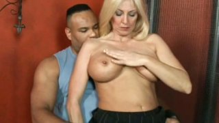 Dirty mature slut Cala Craves polishes Sledge Hammer's hard cock Preview Image