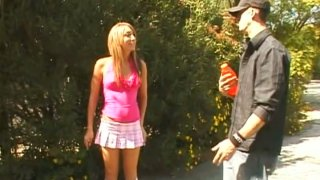 Horny stud picks up Natalia Rossi on a street and gets deepthroat_blowjob Preview Image