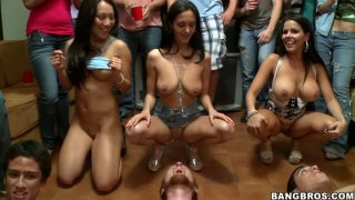 Facesitting contest on a party with Ava Addams, Diamond Kitty and Asa Akira Preview Image