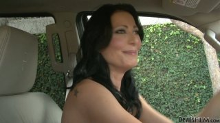 Slutty brunette MILF Zoey Holloway seduces her horny stud Preview Image