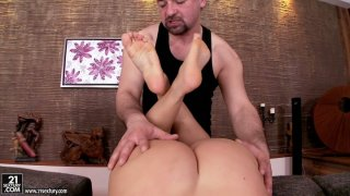Creative doggyfucking and foot worship with voluptuous Debbie White Preview Image