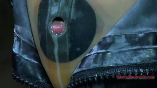 Tight black rubber mask_makes Kristine Andrews suffocate and_cry Preview Image