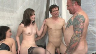 Kinky mom Kiki Daire is fucking in an bisexual foursome sex video Preview Image