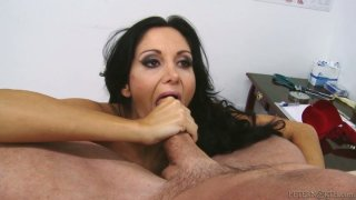 Voracious mom Ava Addams with big boobs polishes a strong pecker Preview Image