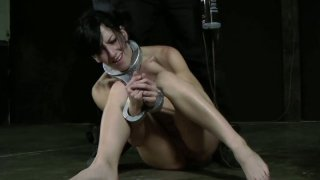 Hussy jade Elise Graves gets a hard butt plug in a hardcore BDSM video Preview Image