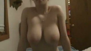 Trashy whore strips and_masturbates on webcam Preview Image