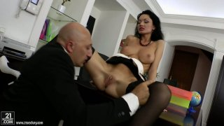 Russian porn actress Regina Prensley is filming in a hot sex scene produced by 21 Sextury Preview Image