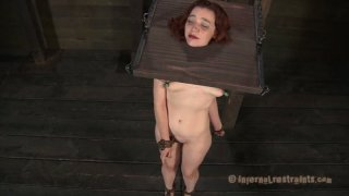 Pillory punishment for chubby redhead_babe Maggie_Mead Preview Image