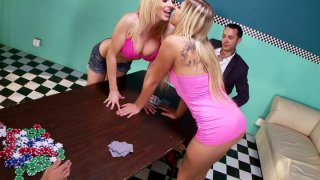 Astonishing sexy blond head Zoey Monroe has a sex with slutty lesbo Preview Image